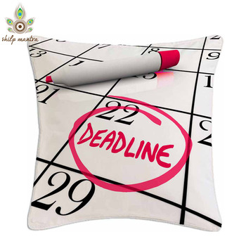 Deadline Digital Print Cushion Covers