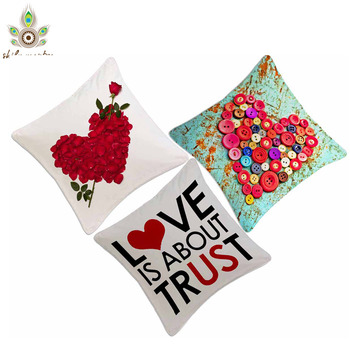 Expression of Love Digital Print Cushion Covers