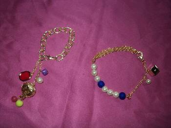fancy bracelets and anklets