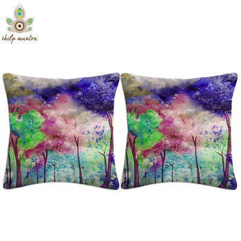 Water Color Digital Print Cushion Covers