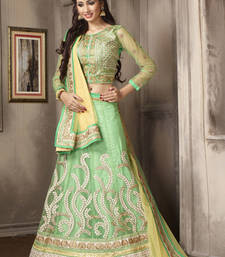 Buy Flamboyant Bud Green Trendy Lehenga Choli lehenga-choli online