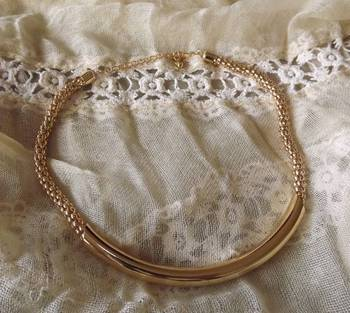 Trendy Golden Tube Necklace