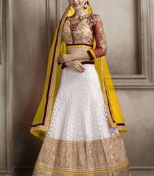Buy Smashing Off White Embroidered Lehenga Choli punjabi-lehenga online