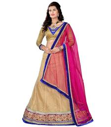 Buy Pink Embroidered Net Lehenga Choli With  Blouse ethnic-lehenga online