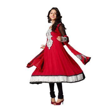 Hypnotex Faux Georgette Marron Color Designer Dress Material Bird3106