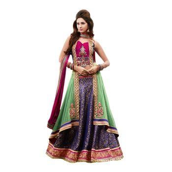 Hypnotex Net Green Color Designer Dress Material Missindia5008