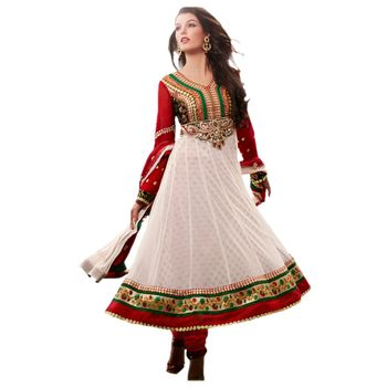 Hypnotex Net Off White Color Designer Dress Material Missindia5013