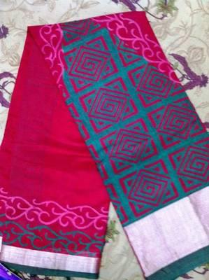 Red cotton silk