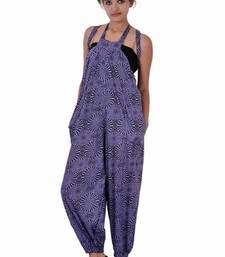 Buy Cotton Printed Purple  Color Jumpsuit other-apparel online