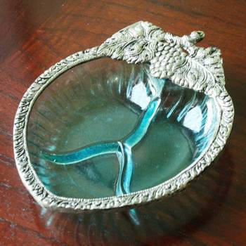 Glass serving tray: Small Blue - Diwali Gifts