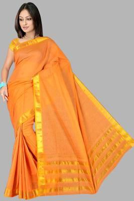 Pavechas Mangalgiri Solid Cotton Sari DNO 309