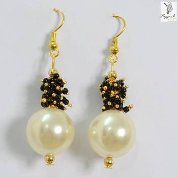 Black-Pearl Beauty Earrings