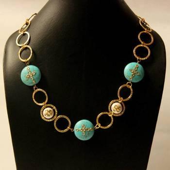 Contemporary Turquoise Neckpiece
