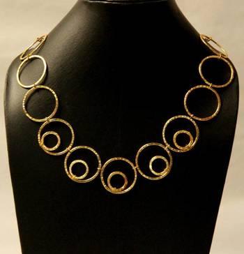Stylish Gold Neckpiece
