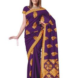Palatinate purple Arificial Silk Bridal Wear Saree Sari PS240  shop online