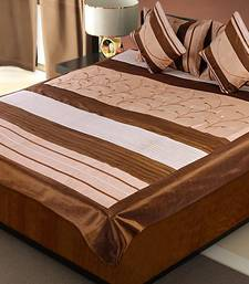 Buy Rajasthani 5 Piece Golden Color Silk Bedlinen Cushion Pillow Covers Set duvet-cover online