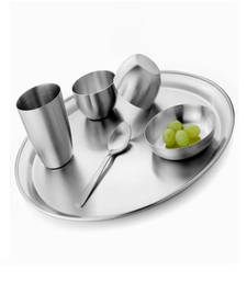 Buy stainless steel Plate/ Thali Set (Set of 6 pc) decorative-plate online