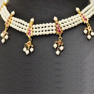 maharashtrian traditional PEARL necklace