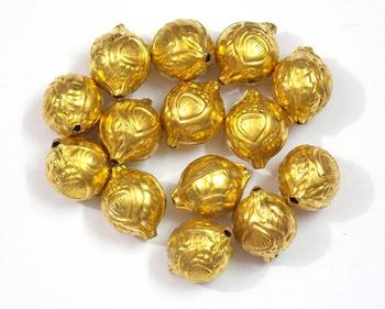 golden hollow round beads craft