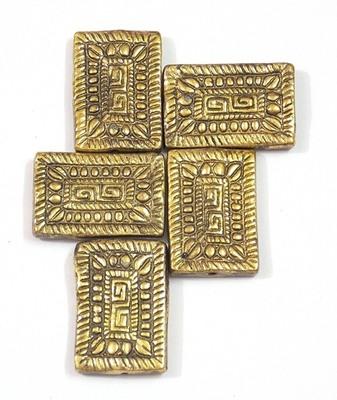 biscuit shape golden big bead