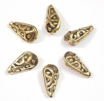 drop shape golden beads jewelry making