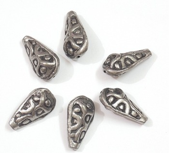 drop shape silver beads jewelry making