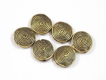 button style round golden beads