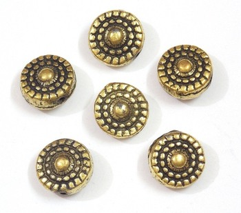 Flower design round golden bead jewelry