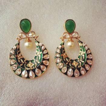 Green Antique Earrings
