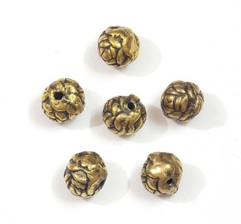 Do it yourself,round golden bead jewelry craft making