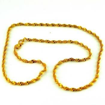 vidhya kanganv gold platted chain size-18''