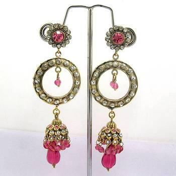 Victorian Tokri Dangler Queen Pink