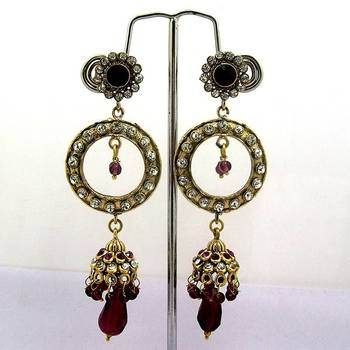 Victorian Tokri Dangler Tingy Red