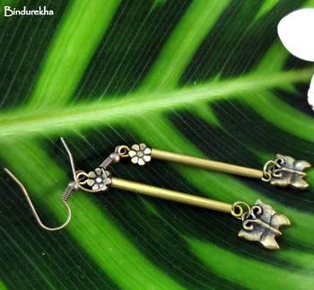 Brass_Long_Pipe_Butterfly_Earrings