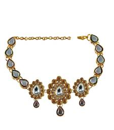 Buy stone studded gold platted bajubandh size adjustable bajuband online