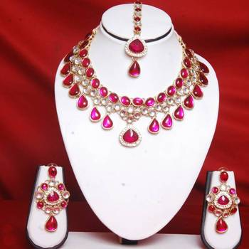 Rani Color Necklace Set Online Shopping for Necklace Set by Swarajshop Jewellery