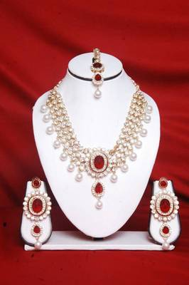 Maroon Color Necklace Set Online Shopping for Necklace Set by Swarajshop Jewellery