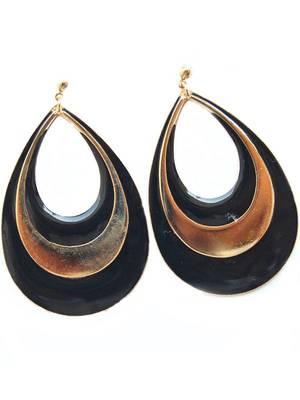 Black Golden Corporate Hanging Earrings