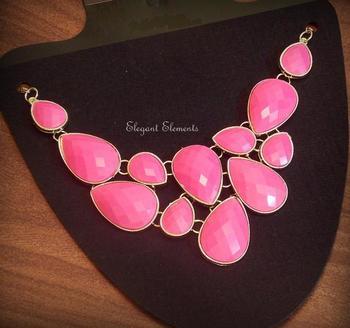 Pink statement neckpiece