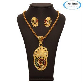 Vendee Peacock Gold Pendant 7632
