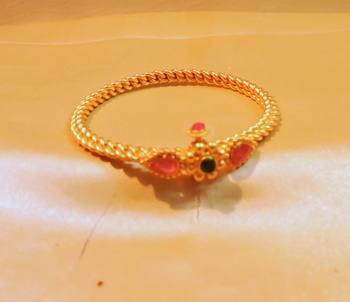 gold platted ruby bracelet