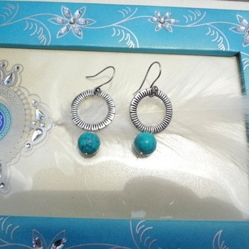 tibetan donut beads and turquoise