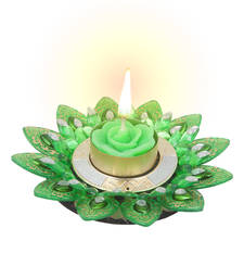Buy Bestselling Diya Candle in Fancy Green candle online