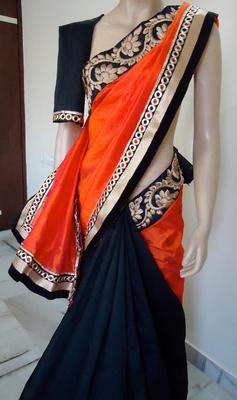 PURE RAW SILK HOT PAIR SAREE