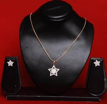 American Diamond Pendant Set B