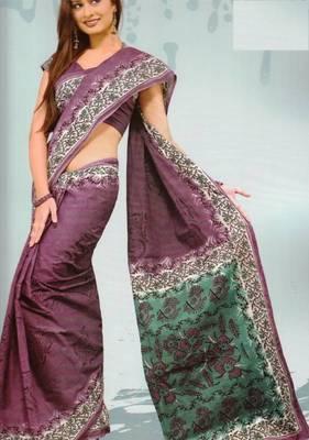Sarees Mal Mal Cotton Designer Prints With Blouse Piece D.No D1014