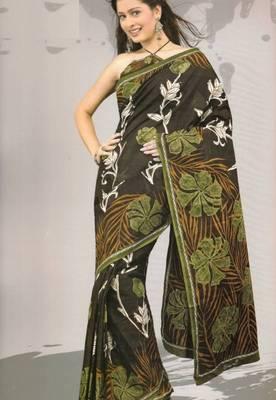 Sarees Mal Mal Cotton Designer Prints With Blouse Piece D.No D1017