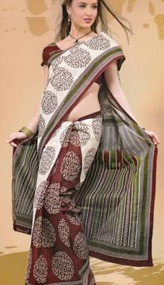 Sarees Mal Mal Cotton Designer Prints With Blouse Piece D.No D1019