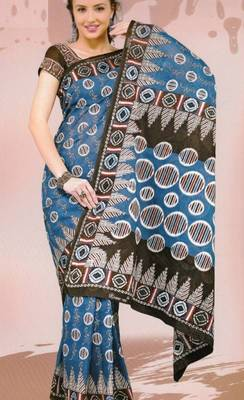 Sarees Mal Mal Cotton Designer Prints With Blouse Piece D.No D1021