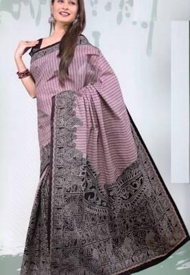 Sarees Mal Mal Cotton Designer Prints With Blouse Piece D.No D1024